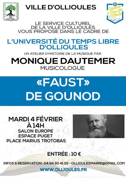Atelier d'histoire de la musique de l'Université du Temps Libre animé par Monique Dautemer à Ollioules - 0