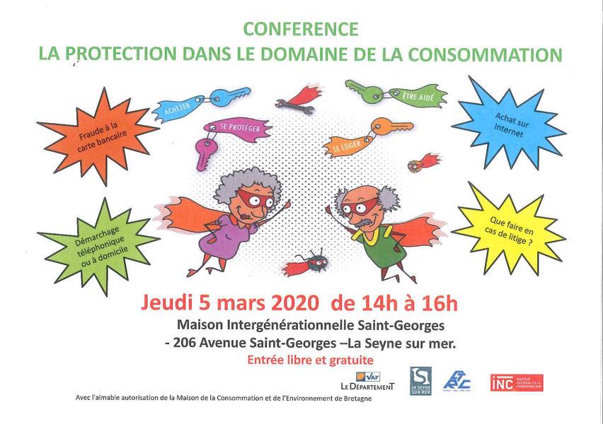 Conférence « La Protection dans le domaine de la consommation » à La Seyne-sur-Mer - 0