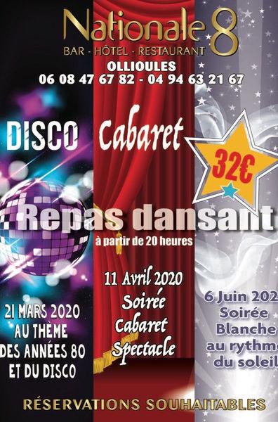 Repas dansant au thème du disco et des années 80 à Ollioules - 0