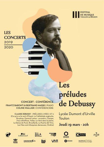 Concert – Conférence – Les Préludes de Debussy – Festival de Musique Toulon & région à Toulon - 0