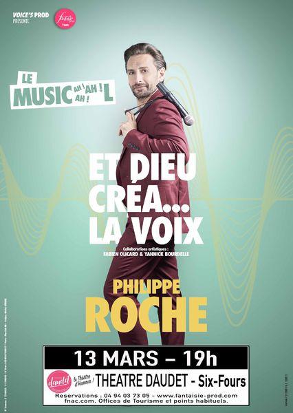 Spectacle d'humour musical «Et Dieu créa la voix» de Philippe Roche à Six-Fours-les-Plages - 0