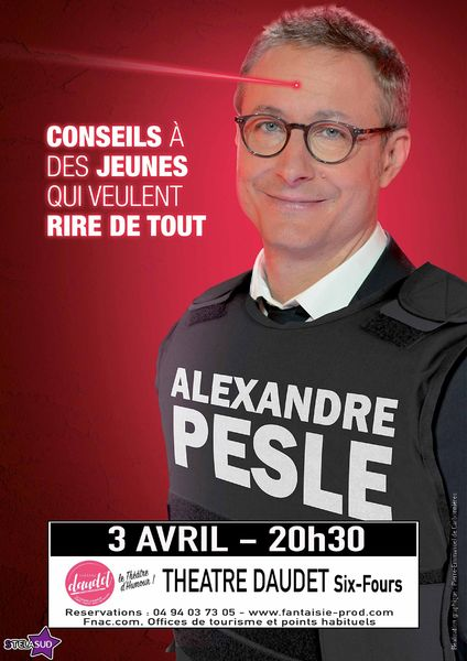 Annulé et reporté : One man show «Conseil à des jeunes qui veulent rire de tout» de Alexandre Pesle à Six-Fours-les-Plages - 0