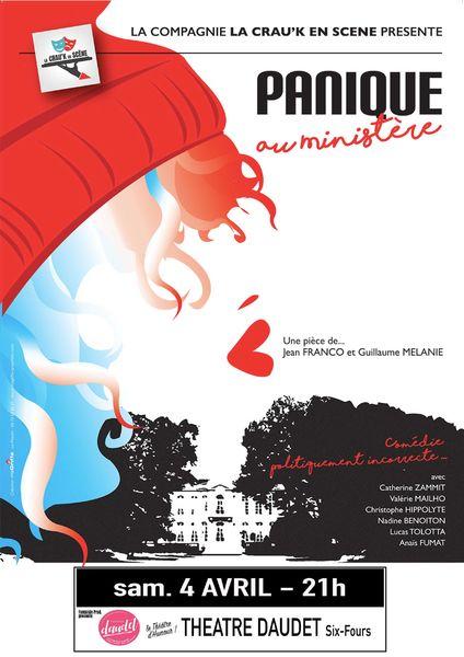 Annulé et reporté (date à confirmer) : Théâtre «Panique au Ministère» de Jean Franco et Guillaume Mélanie à Six-Fours-les-Plages - 0