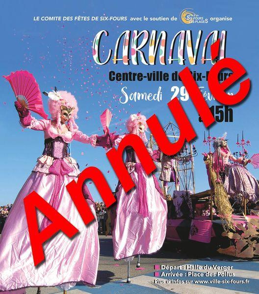 Carnaval à Six Fours – Attention ANNULÉ ! à Six-Fours-les-Plages - 0