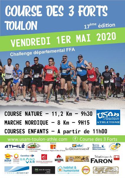 Annulé – 17e Course nature des 3 forts de Toulon à Toulon - 0