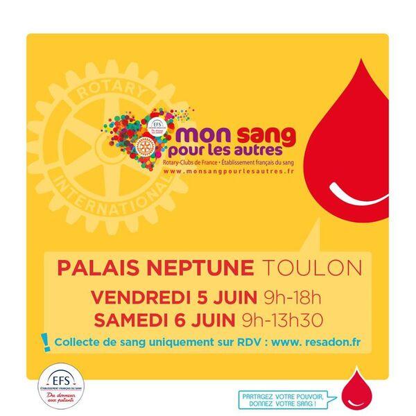 Collecte « Mon sang pour les autres » EFS et ROTARY à Toulon - 0