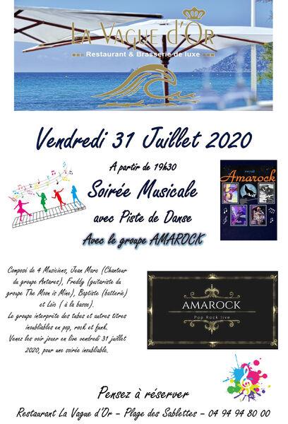 Soirée musicale avec le groupe Amarock à La Seyne-sur-Mer - 0