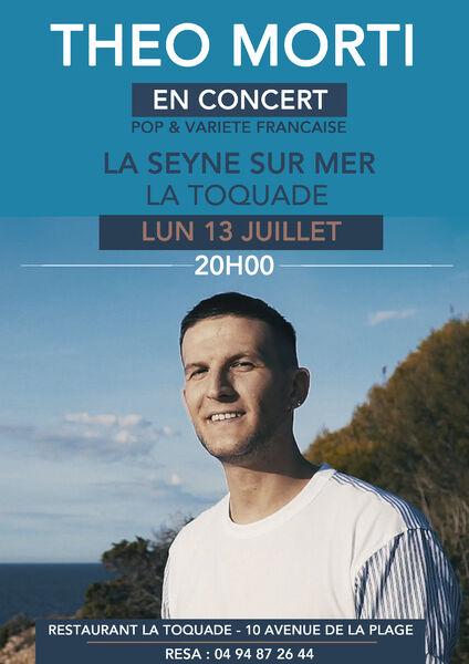 Théo Morti en concert (Pop & variété française) à La Seyne-sur-Mer - 0