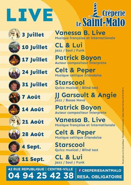 Summer Live : animation musicale avec Angie & JJ Garsault (jazz, bossa nova) à Six-Fours-les-Plages - 0