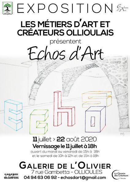 Exposition «Echos d'Art» par les métiers d'art et créateurs ollioulais à Ollioules - 0
