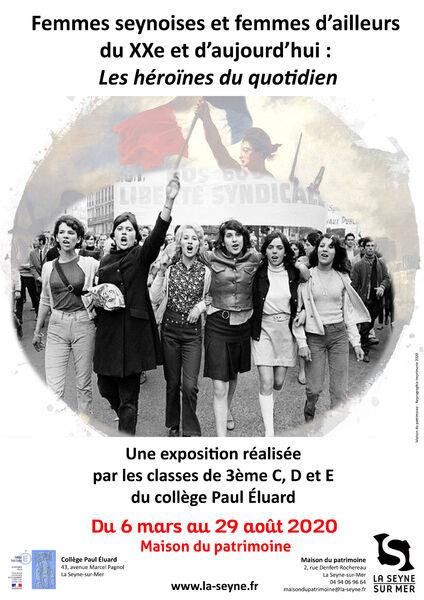 Exposition «Femmes seynoises et femmes d'ailleurs du XXème et d'aujourd'hui : les héroïnes du quotidien» à La Seyne-sur-Mer - 0