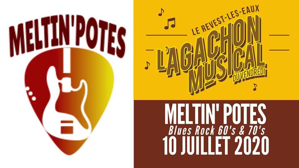 Concert – L'agachon du vendredi – Meltin'Potes à Le Revest-les-Eaux - 0