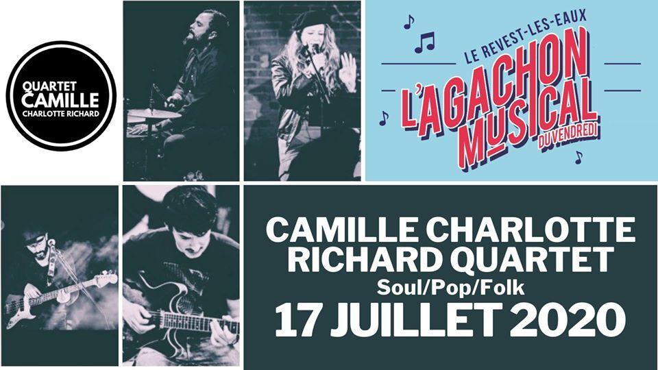 Concert – L'agachon musical du vendredi – Camille Charlotte Richard quartet à Le Revest-les-Eaux - 0