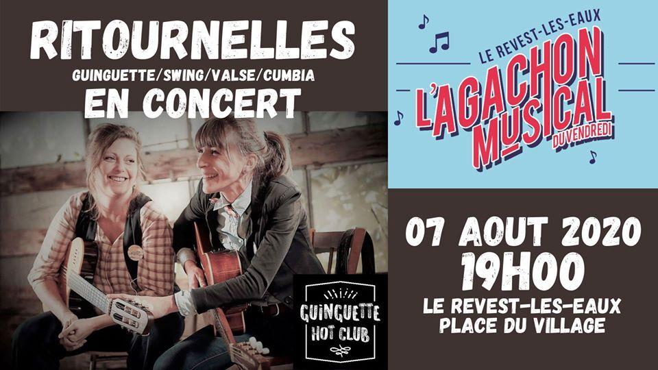 Concert – L'agachon musical du vendredi – Ritournelles à Le Revest-les-Eaux - 0