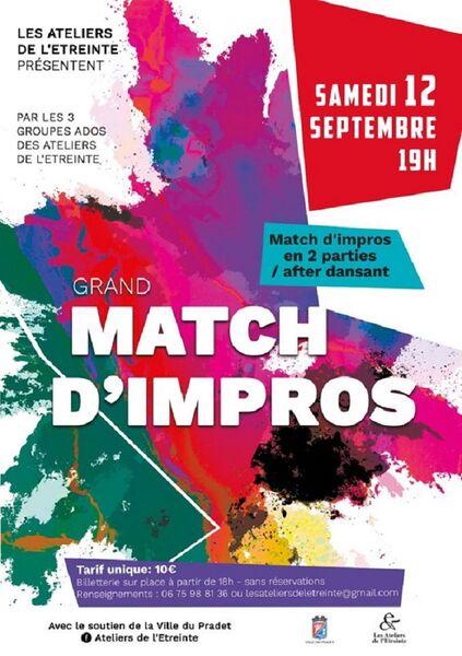 Théâtre / Jeune public : » Grand match d'improvisation « à Le Pradet - 0