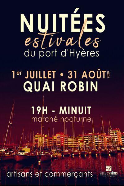 Nuitées estivales du port (marché nocturne) à Hyères - 0