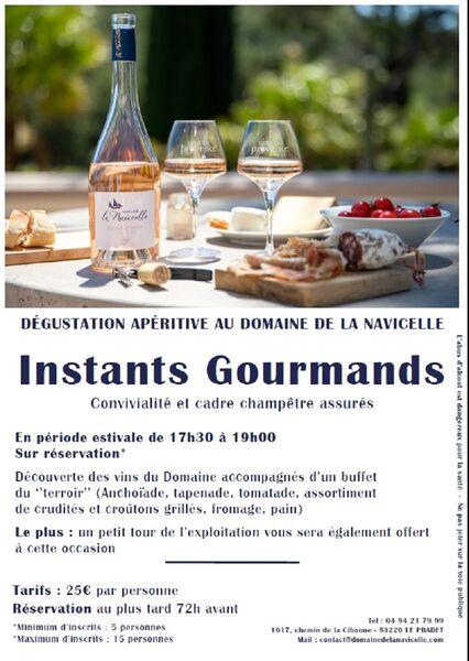 Instant gourmand: Dégustation apéritive au domaine viticole de la Navicelle à Le Pradet - 0