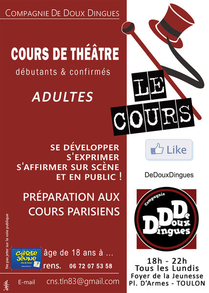 Réunion d'information et inscriptions aux cours de théâtre Cie De Doux Dingues à Toulon - 0