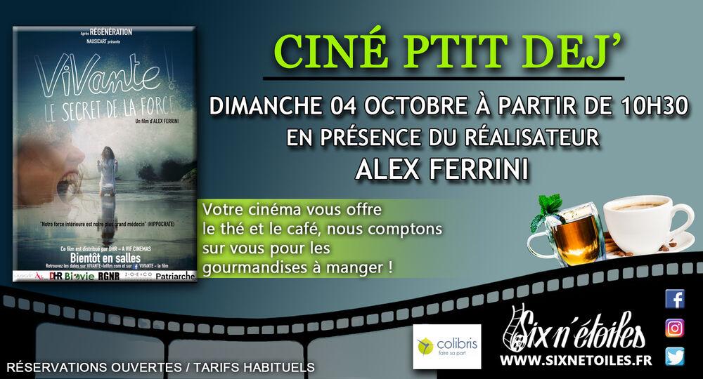 Ciné ptit déj' «Vivante !» en présence d'Alex Ferrini, réalisateur du film à Six-Fours-les-Plages - 0