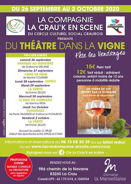 Du théâtre dans les vignes: Fête les vendanges à La Crau - 0