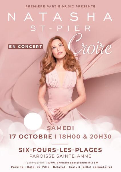 Concert Natasha St-Pier «Croire» à Six-Fours-les-Plages - 0