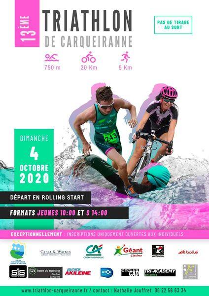 13ème Triathlon de Carqueiranne à Carqueiranne - 0