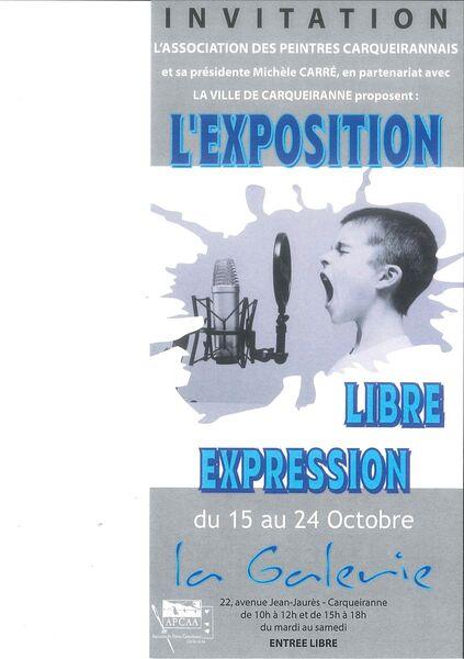 Exposition de Peintures – «Libre Exposition» à Carqueiranne - 0