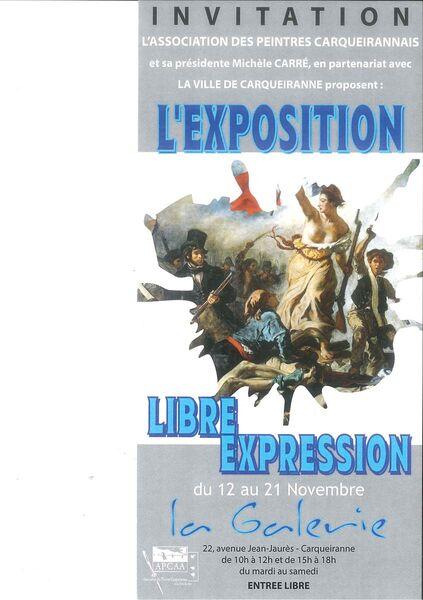 Exposition de Peintures – «Libre Expression» à Carqueiranne - 0