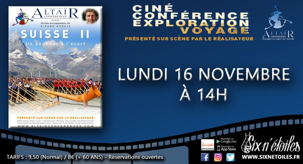 Ciné conférence Altaïr «Suisse II – un bonheur à l'écart» en présence du réalisateur Pierre Dubois à Six-Fours-les-Plages - 0