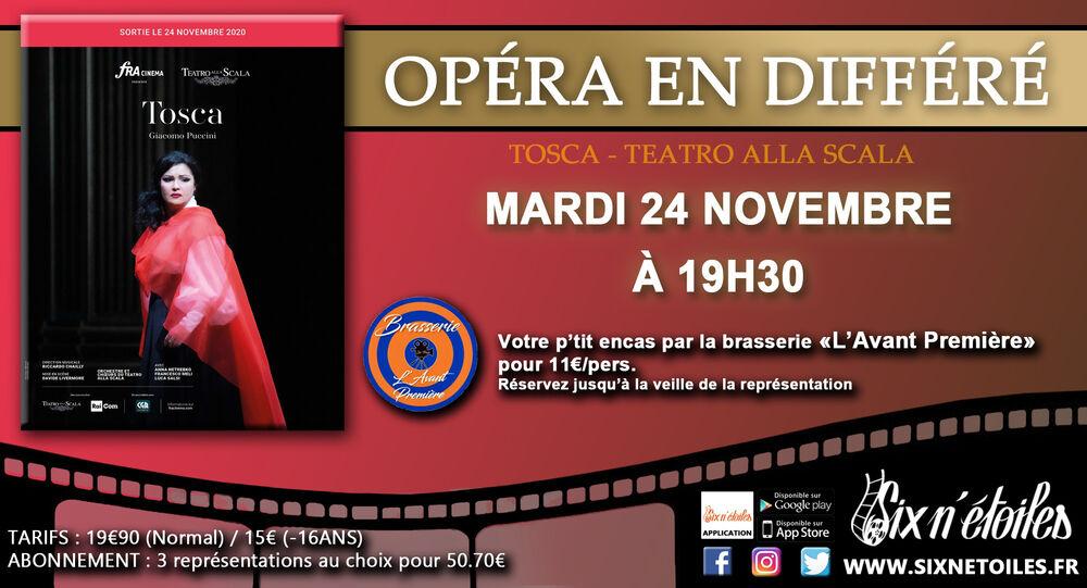 Annulé : Ciné opéra «Tosca» en différé du Teatro alla Scala à Six-Fours-les-Plages - 0