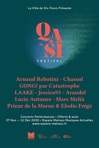 Qasi Festival (concerts performances) : Arnaud Rebotini + Jessica93 à Six-Fours-les-Plages - 0