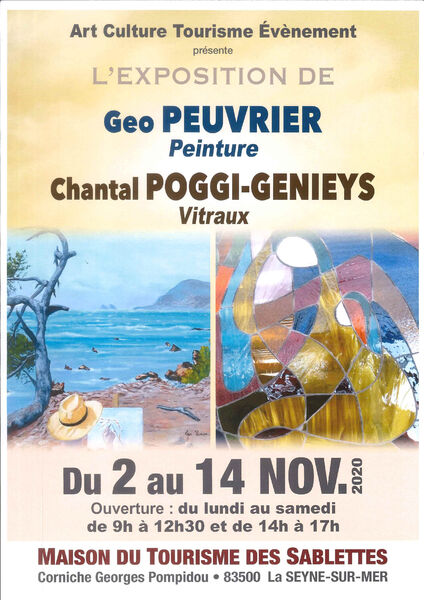 Exposition de Geo Peuvrier (peinture) et Chantal Poggi-Genieys (vitraux) à La Seyne-sur-Mer - 0
