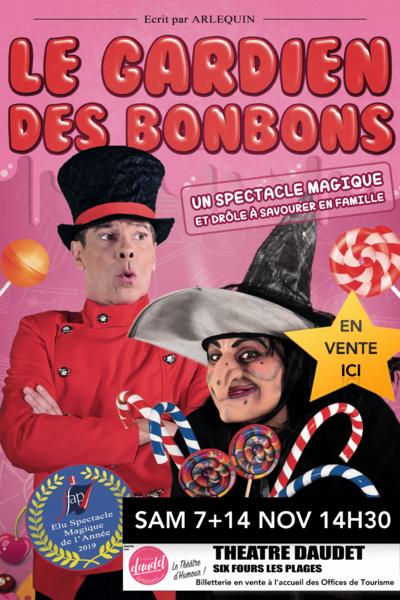 Spectacle pour enfants «Le gardien des bonbons» d'Arlequin & Valérie à Six-Fours-les-Plages - 0