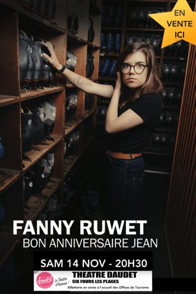 One woman show «Bon anniversaire Jean» de Fanny Ruwet à Six-Fours-les-Plages - 0
