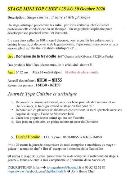 Stage cuisine , théâtre et Arts plastique à Le Pradet - 1