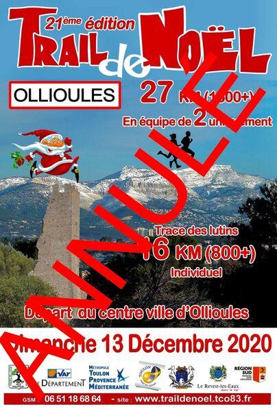 Annulé : Trail de Noël à Ollioules - 0