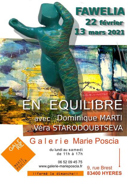 EN ÉQUILIBRE: Exposition d'œuvres d'art à la galerie MARIE POSCIA à Hyères - 0