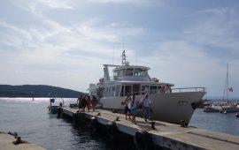 Port  Bateaux accostage Le Levant Naturisme