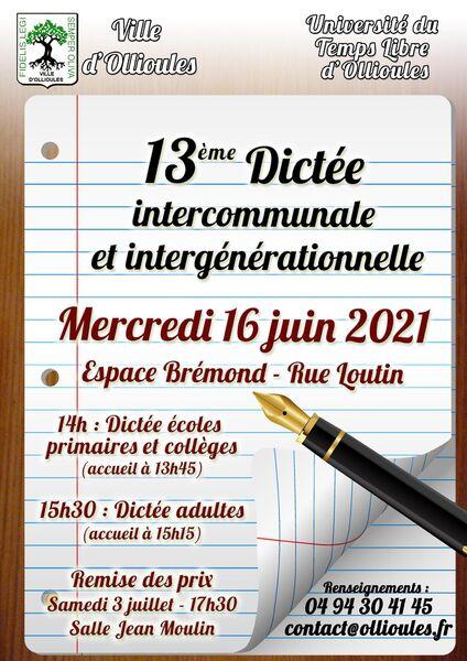 13è dictée intercommunale et intergénérationnelle à Ollioules - 0
