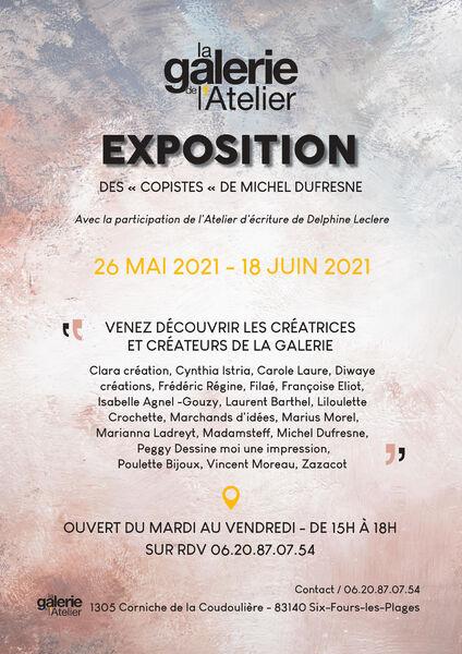 Exposition: «Des copistes» de Michel Dufresne» à Six-Fours-les-Plages - 0